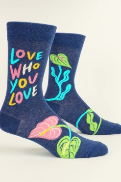 Blue Q - Love Who You Love Men's Crew Socks