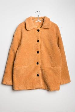 Daphnea - Mustard Teddy Fleece Jacket