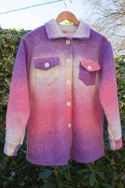 Thunder Egg - Pink & Purple Felted Shacket