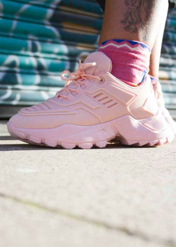 Thunder Egg - Pastel Pink Chunky Trainers