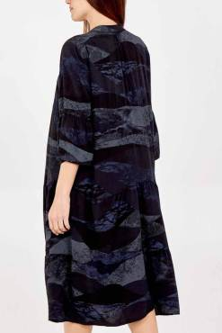Thunder Egg - Black Agate Smock Dress
