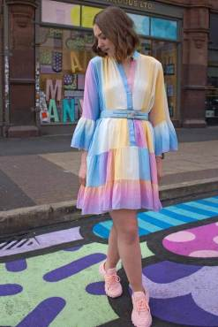 Thunder Egg - Pastel Ombre Smock Dress
