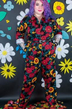 Run & Fly - Retro Floral Boiler Suit