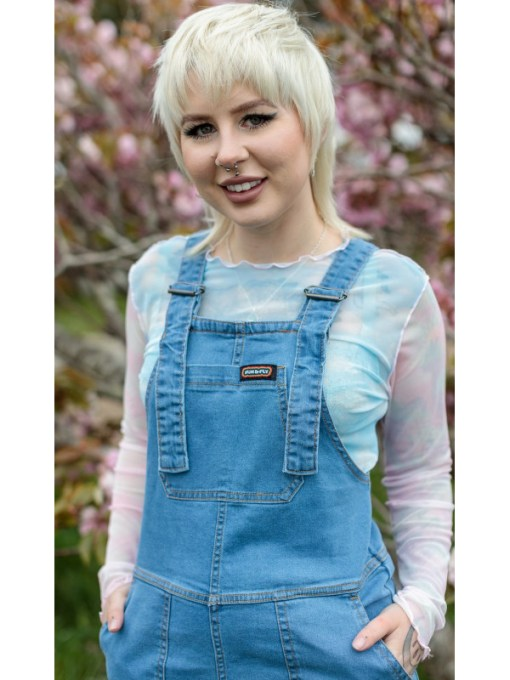 Run & Fly - New Fit Blue Stone Wash Denim Dungarees