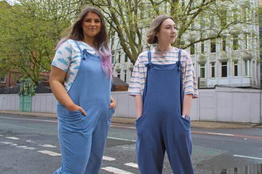 Blue Jersey Dungarees