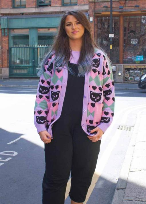 Home of Rainbows - Pastel Kitty Knit Cardigan