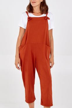 Thunder Egg - Rust Jersey Dungarees