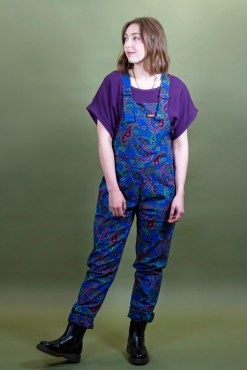 Run & Fly - Colourful Paisley Stretch Twill Dungarees