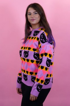 Home of Rainbows - Sunset Kitty Knit Jumper