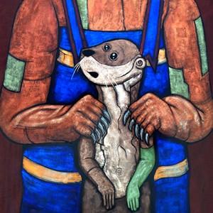 """Makoons Niigiigoonz (Little bear and little otter)"""