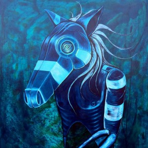 """Horse Mask on Ghost"" :Available for purchase"
