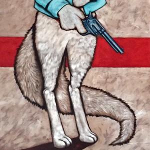 """Injured White Fox"""