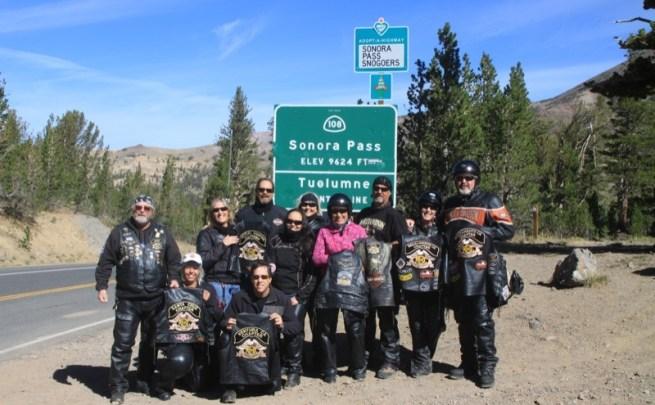 Monterey Bay H.O.G. North Bay, Ventura H.O.G. and Sacramento H.O.G. all met up at Sonora Pass