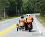 #16 Chris Knoop, with wife Christine in the sidecar