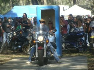 Outhouse races at the 27th annual Roscoe's Chili Challenge