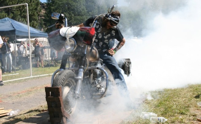 """Surrounded by smoke and flames, Gator has what it takes to """"blowout"""" the competition"""