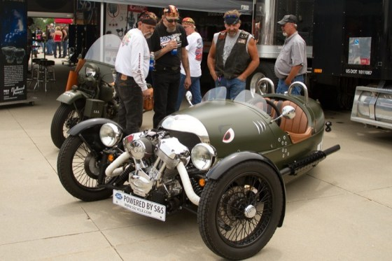 """""""The Mog"""" is a three-wheeler from the Morgan Motor Company that's powered by an S&S X-Wedge motor"""