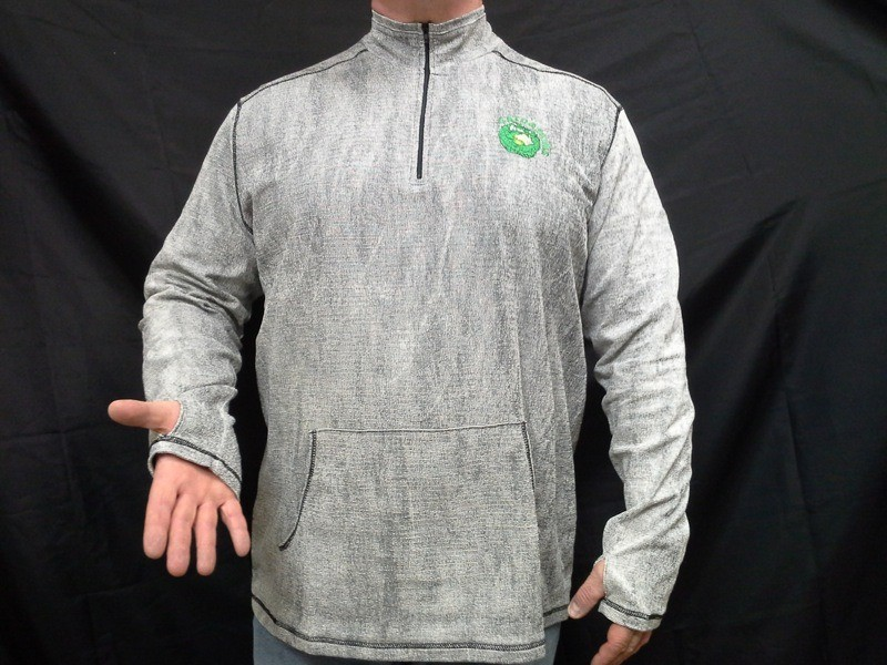 Gatorskins Charcoal Thermal Men's Zippered Shirt
