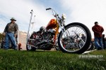 Paul Ponkow's 1950 Panhead took 1st place in Best Old School Scooter