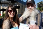 "Event hostess jennifer Santolucito with ""Best Beard"" winner Harry"