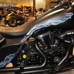 New S&S T124 engine on this slick bagger