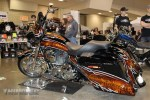 Striking paintwork on this custom bagger in the Pro Class