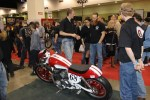 MTI students were busy all weekend discussing their junkyard-donated CB750 with Donnie Smith show attendees
