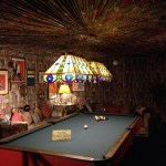 Elvis' pool room features more than 350 yards of fabric folded into the walls and ceiling - amazing!