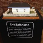 Scale model of Elvis' home in Tupelo, MS