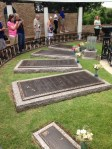 The graves of Vernon and Gladys Presley rest next to their son