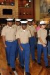 University of Memphis ROTC members present the flag