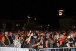 The crowd rushes the stage as Molly Hatchet gets underway