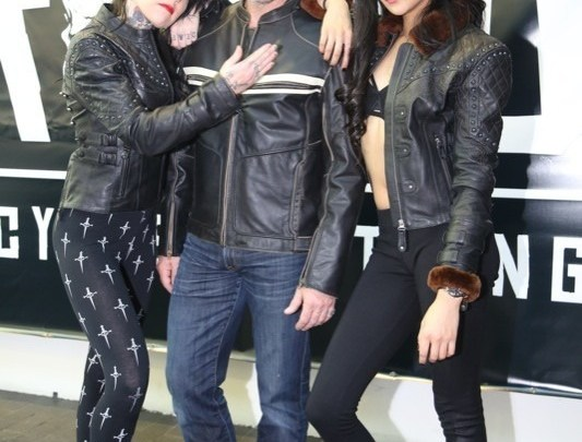 (L.–r.) The Brazilian Wax, Cutthroat, and Sheared Beaver jackets are worn by the Black Brand models