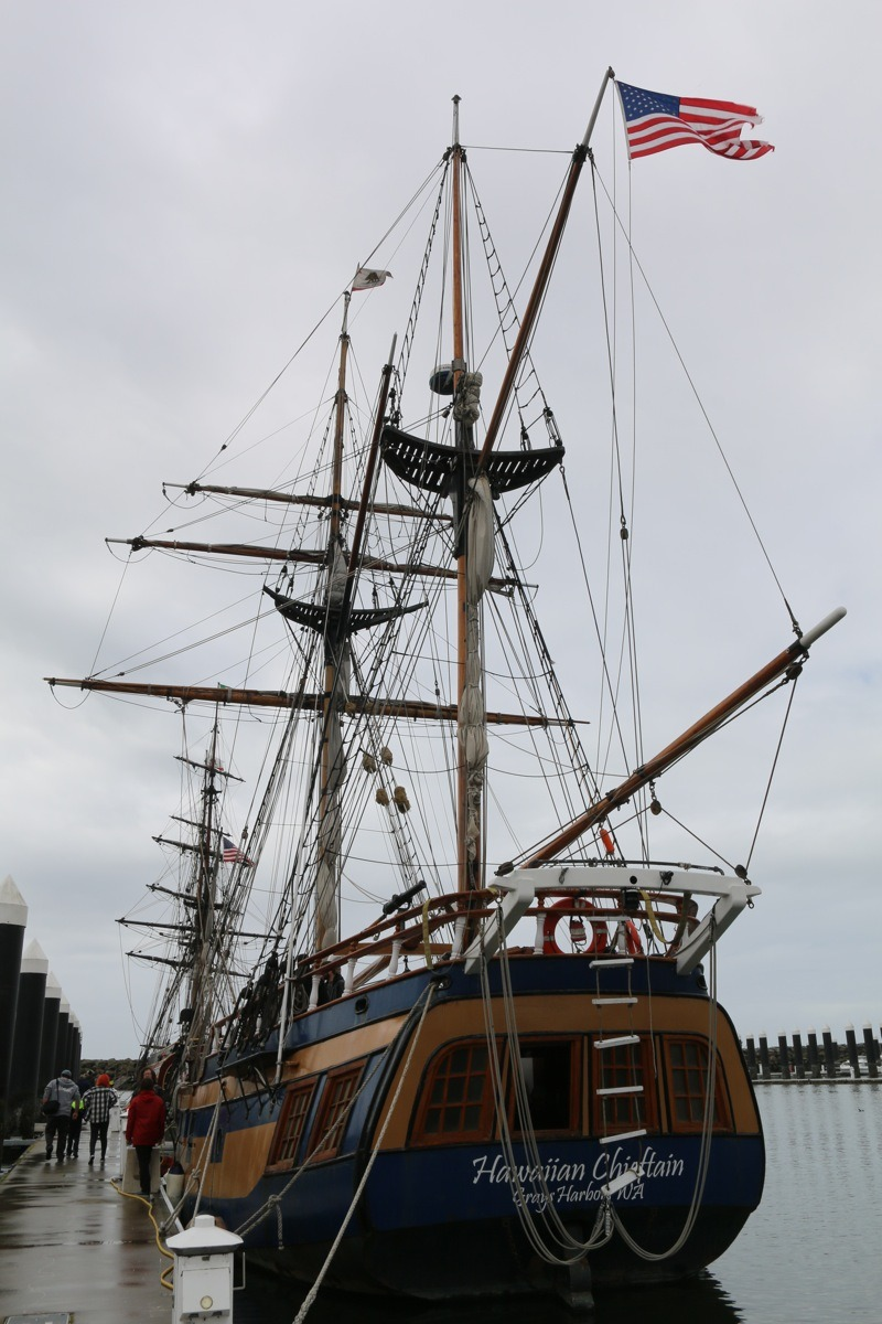 The Hawaiian Chieftain was originally designed for cargo trade among the Hawaiian Islands but now serves as an educational tool in ports up and down the West Coast