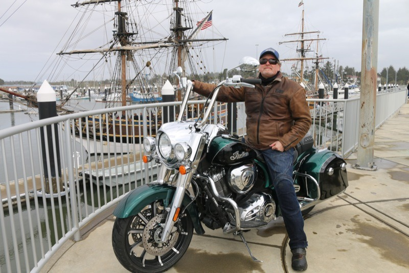 While the tall ship Lady Washington is a fine sailing vessel, the wonderful chassis on the 2018 Indian Springfield made for smooth sailing on the winding roads to the coast