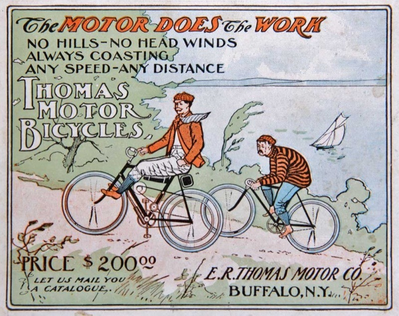 E. R. Thomas made the Auto-Bi, one of the first American motorcycles, and was represented by Charles Henshaw in NY and New England