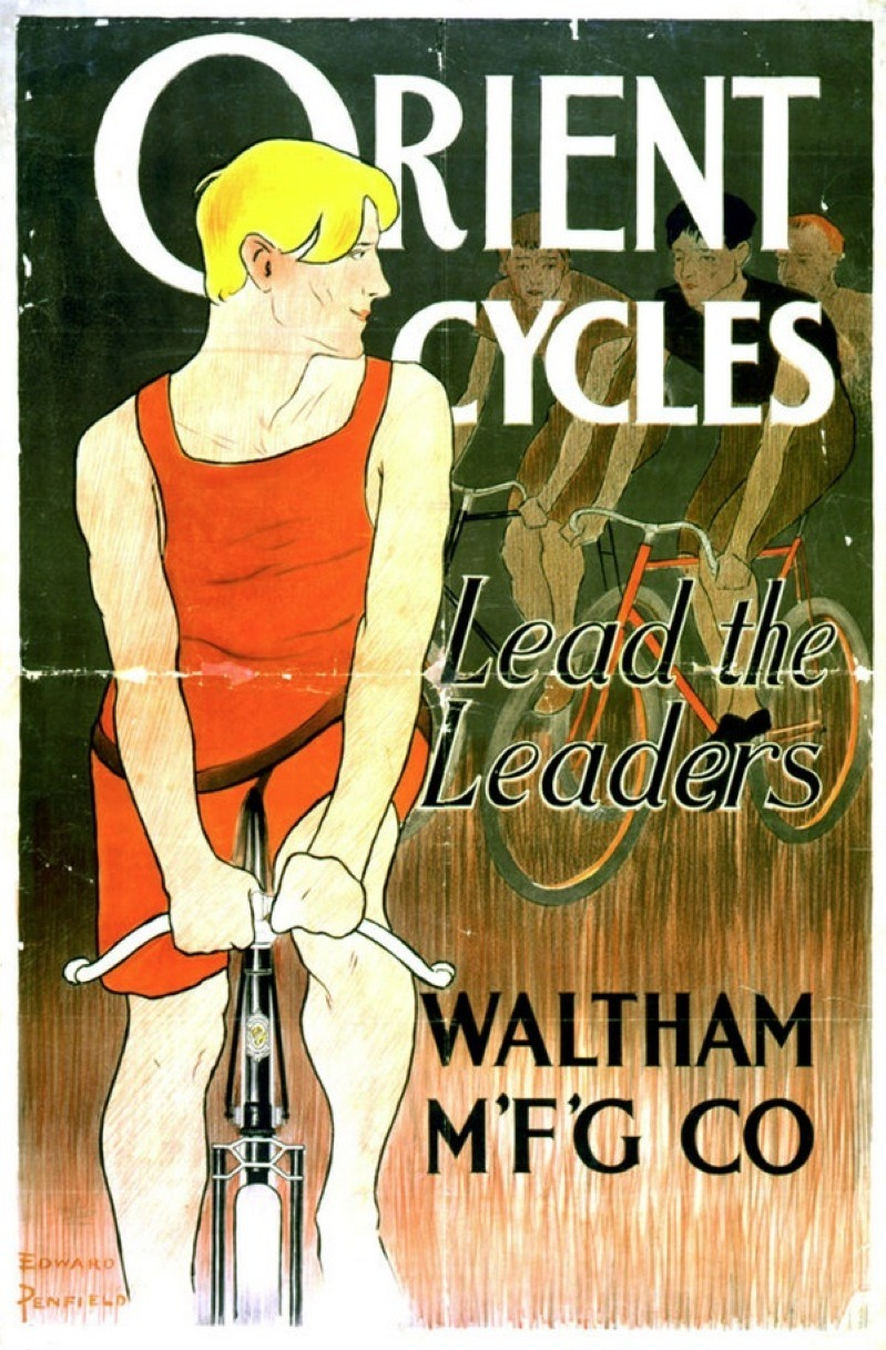 Orient bicycle ad. The Waltham Mfg. Co. quickly expanded into motor vehicles.
