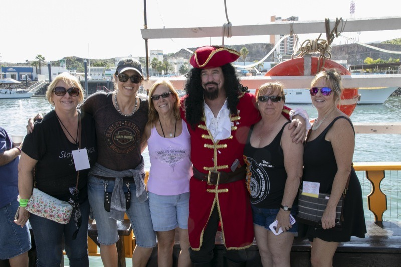 Captain Morgan—the unofficial First Mate—along with some of the crew