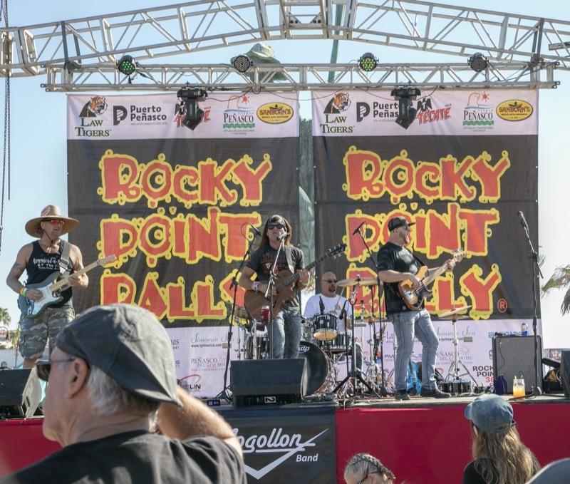 The band Mogollon kept everyone dancing to classic rock all throughout the Bike Show