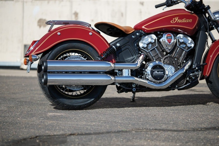 Indian Scout 100 anniversary thunder press