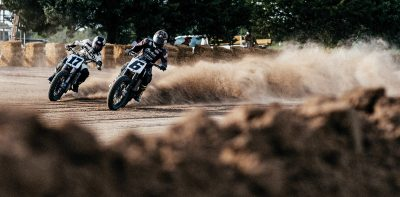 fast and left, evan senn, joy burgess, thunder press, flat track racing, dirt track