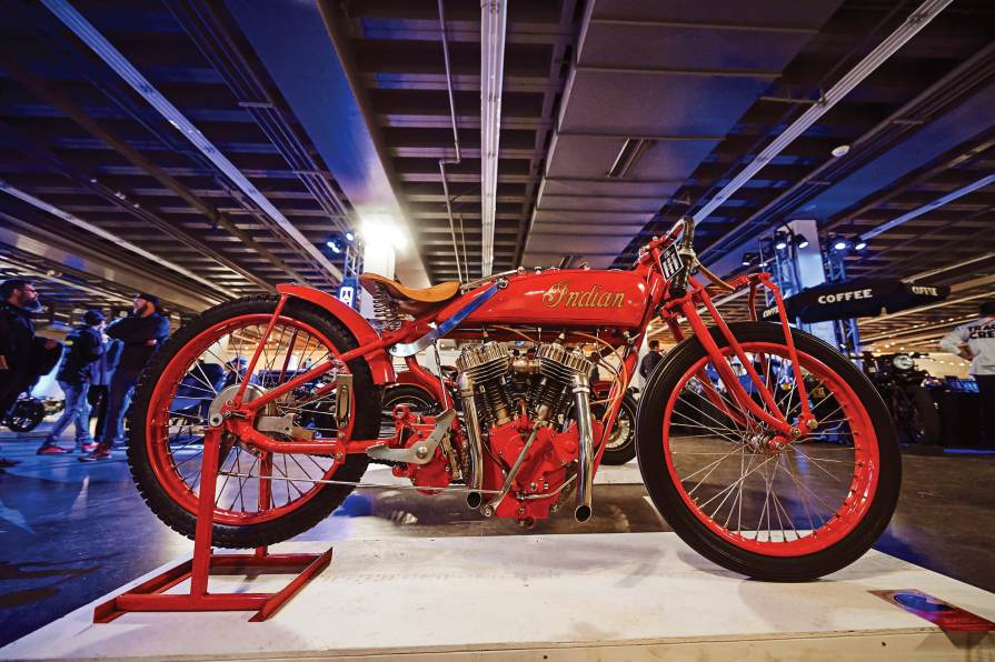 Indian Motorcycle brought along this stunning vintage Indian racer with a handful of other bikes, both new and old. Think those straight pipes get any attention?