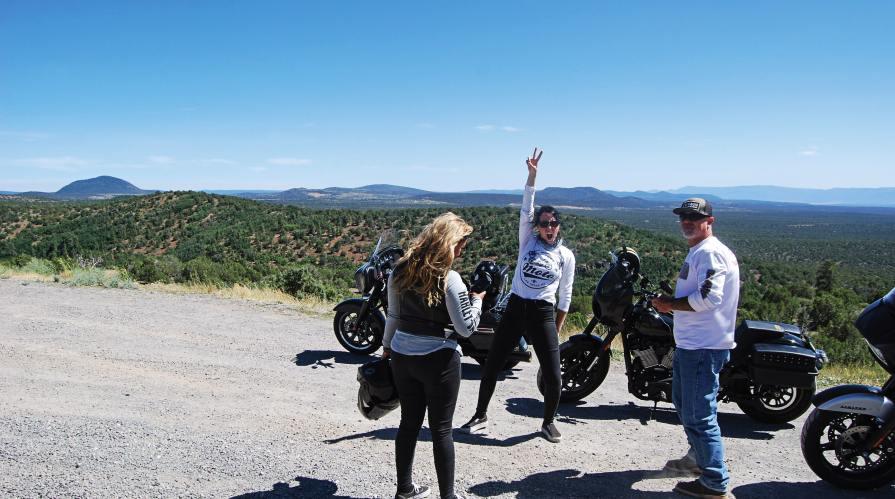 Maggie Monge (left) Natalie Kliener (center) and Kent Prentiss. Kliener celebrates making it to the last leg of the tour in Arizona. Party on!