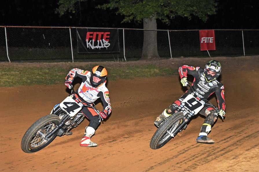 Carr (4) and Mees (9) goin' at it in the Main. Mees won, but Carr kept him honest.