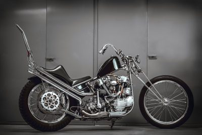 Some 60 custom machines from all over the world took part in The No Show competition. Top: Buffalo, New York's Christian Newman grabbed the Harley-Davidson Museum Award with his stunning stainless Knuckle
