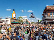 Motorcycle Jump Over Main St During Sturgis Closing Ceremony