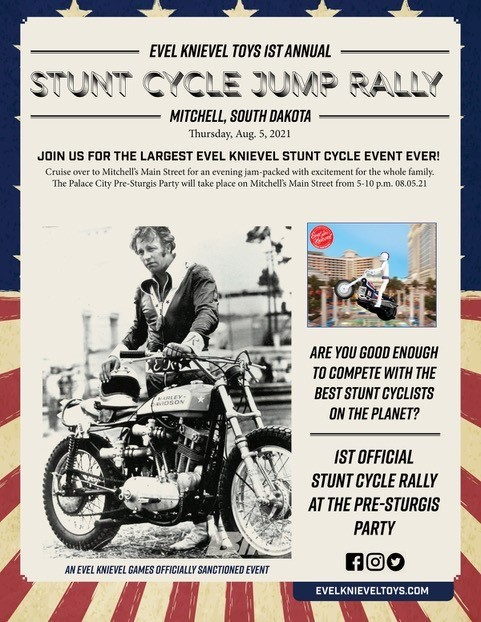 Evel Knievel Stunt Cycle Jump Rally Poster