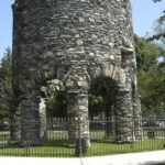 the Newport Tower, also known as the Touro Mill, in Touro Park