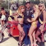 Big Daddy Rat and Rat Mates in front of his Mouse Trap trike at Sturgis in 1991