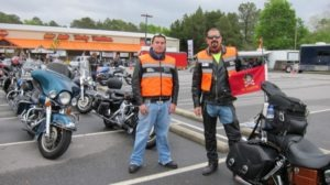 Outer Banks H.O.G. Road Captains Cody and Richard prepare to lead the Around the Sound tour